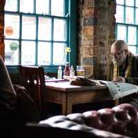 Beared man in pub