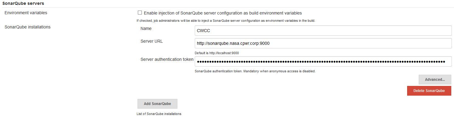SonarQube Server Name