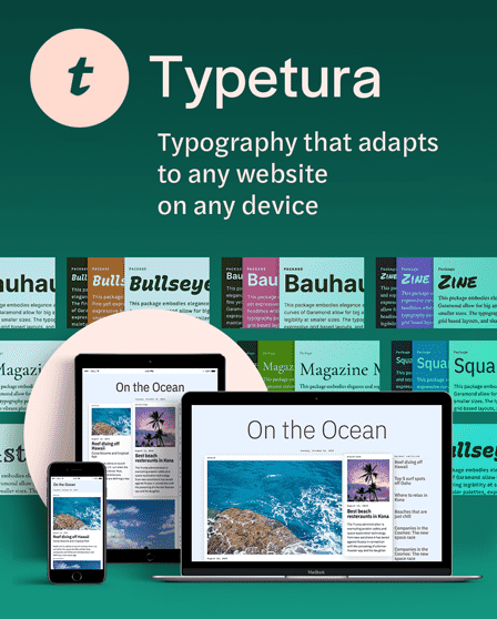 Typetura: typography that adapts, to any website, on any device