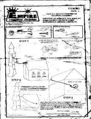 Empire Church With Steeple #1475 Instruction Manual.pdf preview