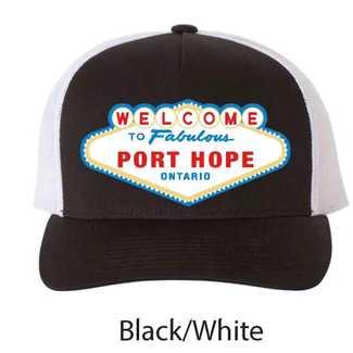 Fabulous Port Hope Hat Black/White