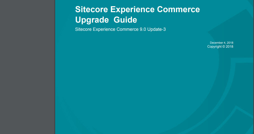 Upgrade Sitecore Experience Commerce 9.0 Update-2 to Update-3