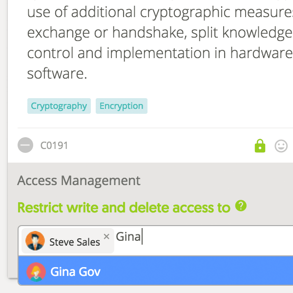 cryptography access control