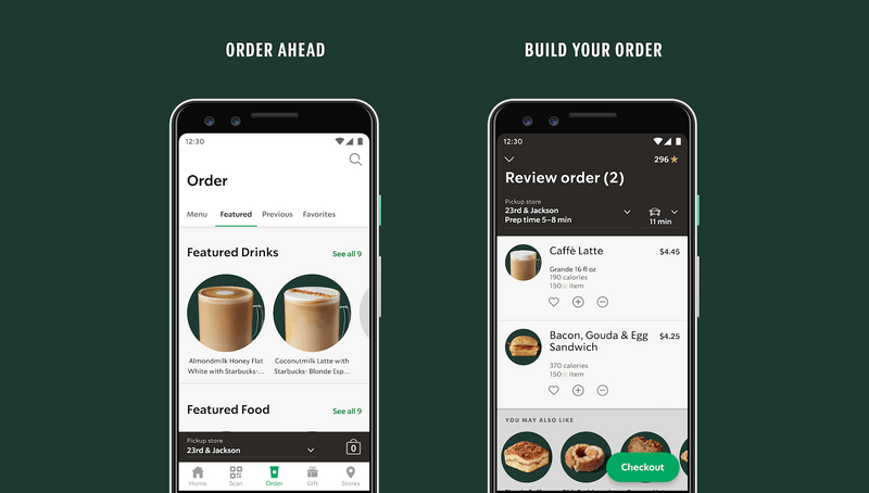Starbucks example - app