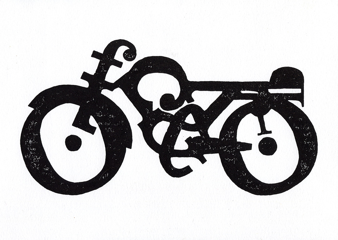 Type Bike: Clarendon block print