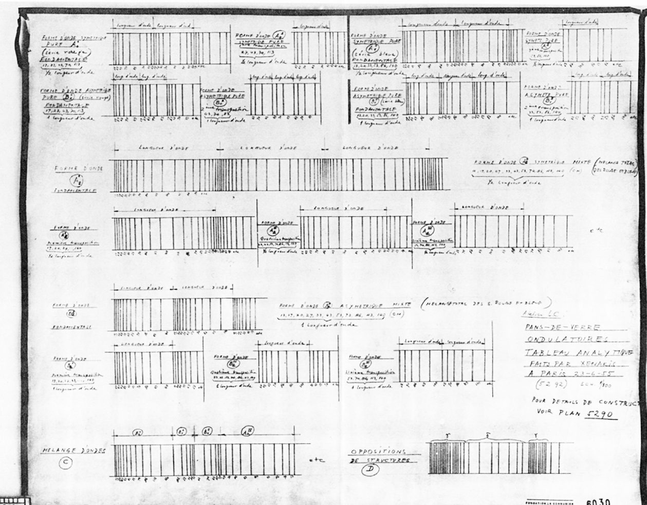 Xenakis facade drawings