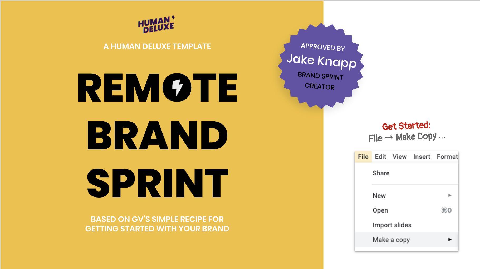 Remote Brand Sprint