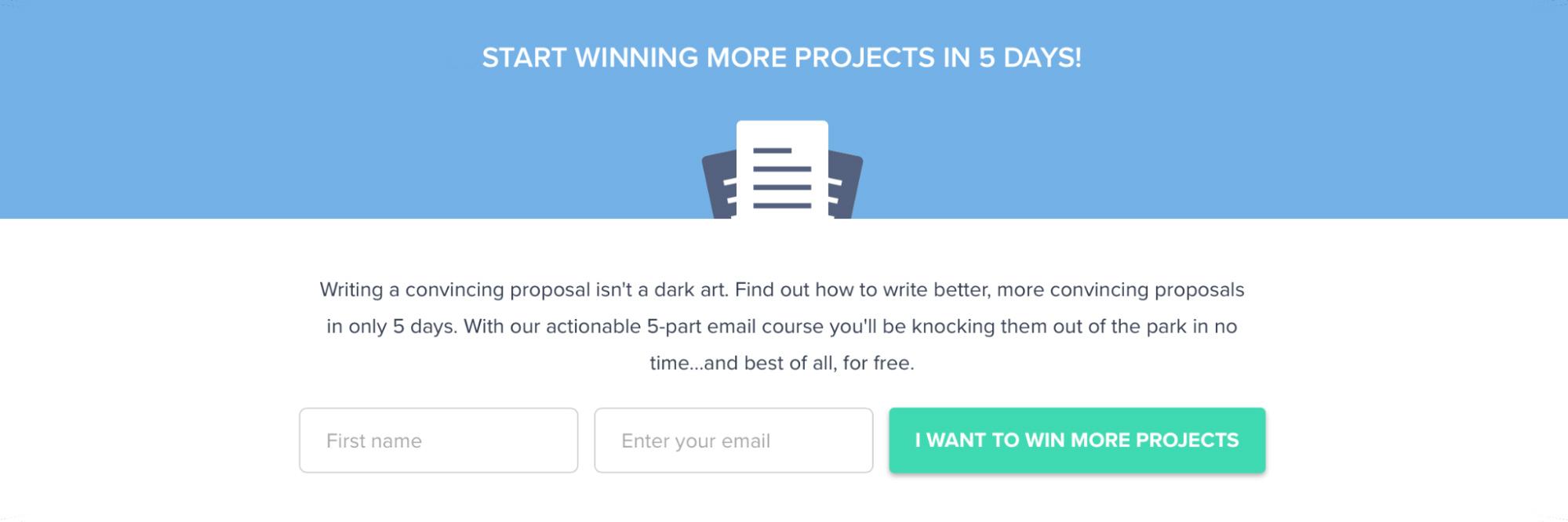 SaaS Landing Page Tips with Josh Garofalo: Screenshot of Nusii's lead magnet section