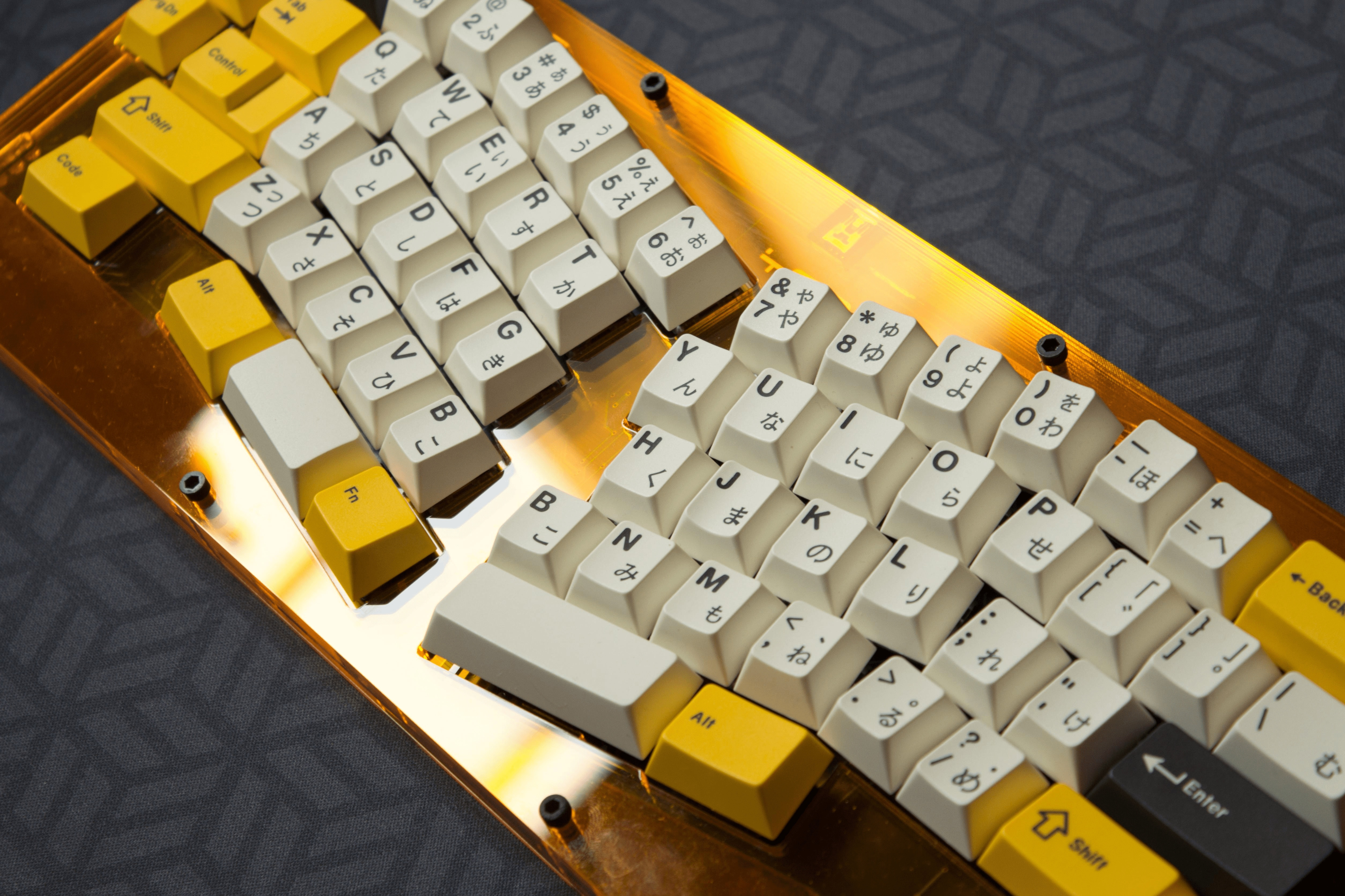 A split staggered keyboard