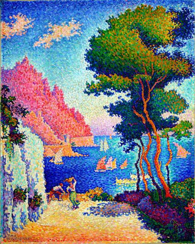 'Capo di Noli' by Signac in 1898, currently at Wallraf-Richartz Museum, Cologne