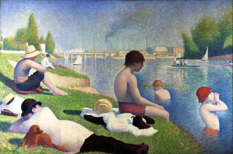 'Bathers at Asnières' by Seurat, 1884, National Gallery, London