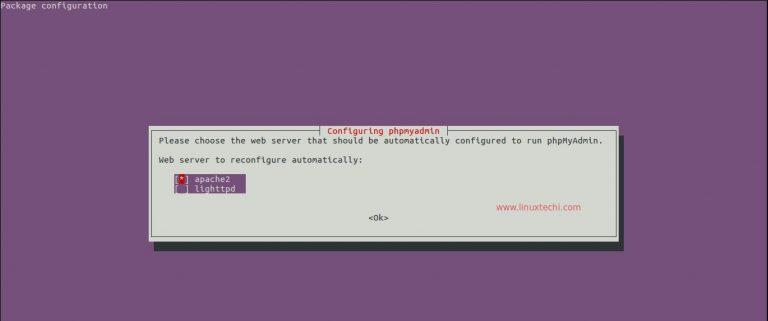 Web Server untuk phpMyAdmin
