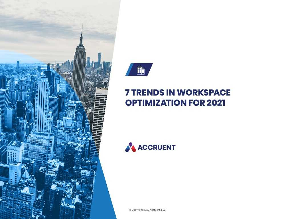 Accruent - Resources - eBooks - Top 7 Trends in Workspace Optimization for 2021 - Cover Image