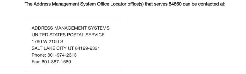 Get the USPS to recognize my address step two