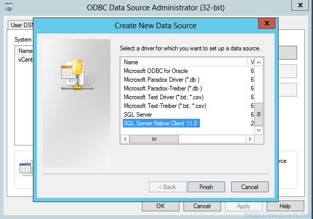 VMware vSphere Update Manager - 32 bit DSN 2