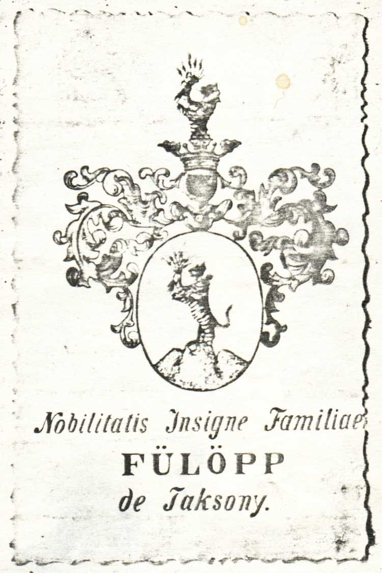 Fülöpp de Taksony coat of arms