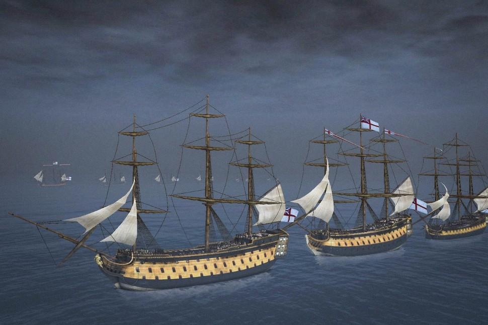 HMS Victory 1765; Barfleur Class 2nd Rate (98 guns); Triumph Class Heavy 3rd Rate (74 guns)