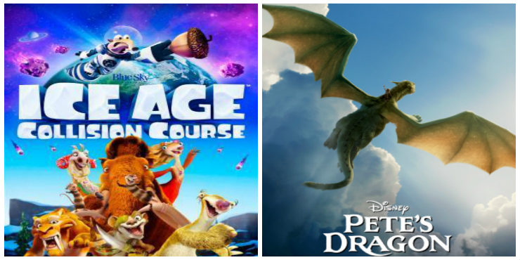 Ice Age: Collision Course and Pete's Dragon