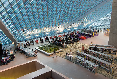 Inside Seattle Central Library