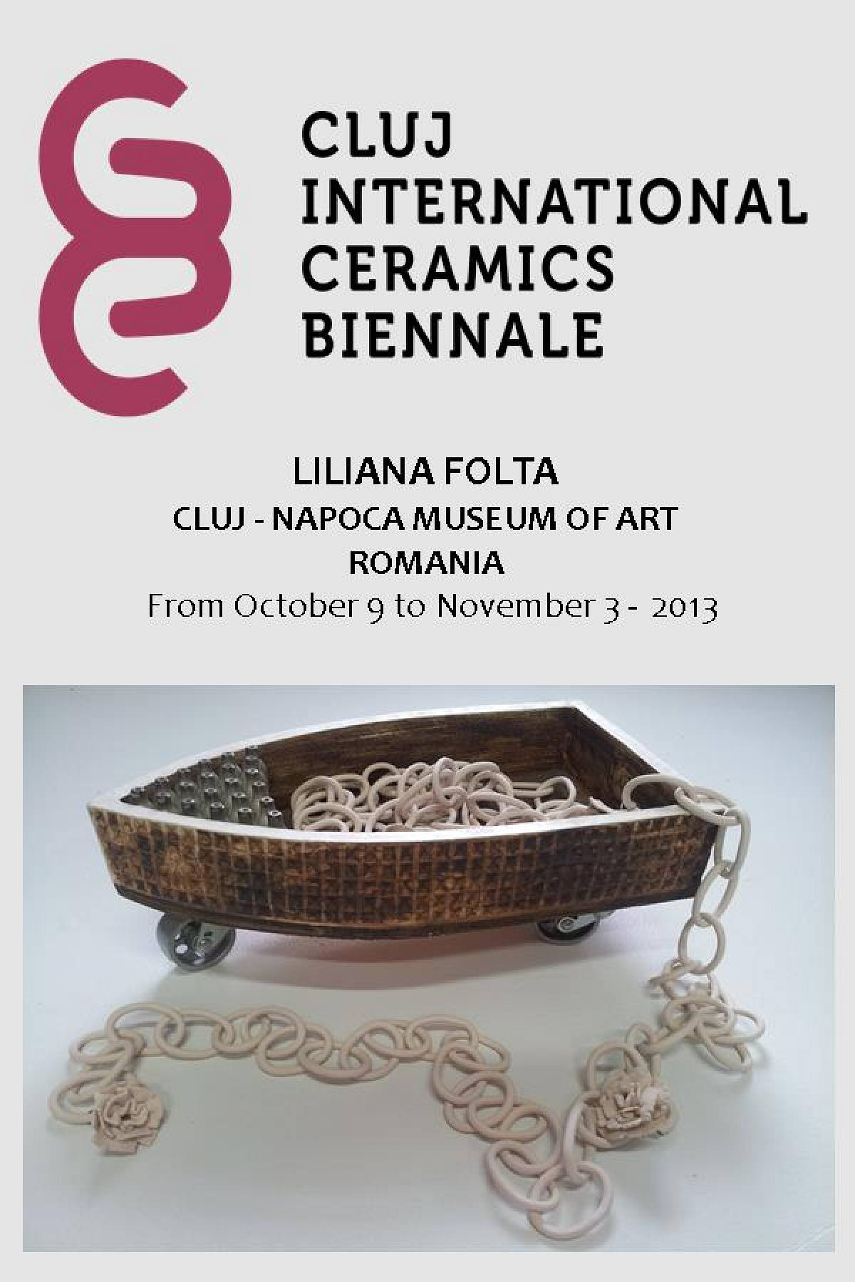 Cluj - Napoca International Ceramics Biennale 2013 flyer