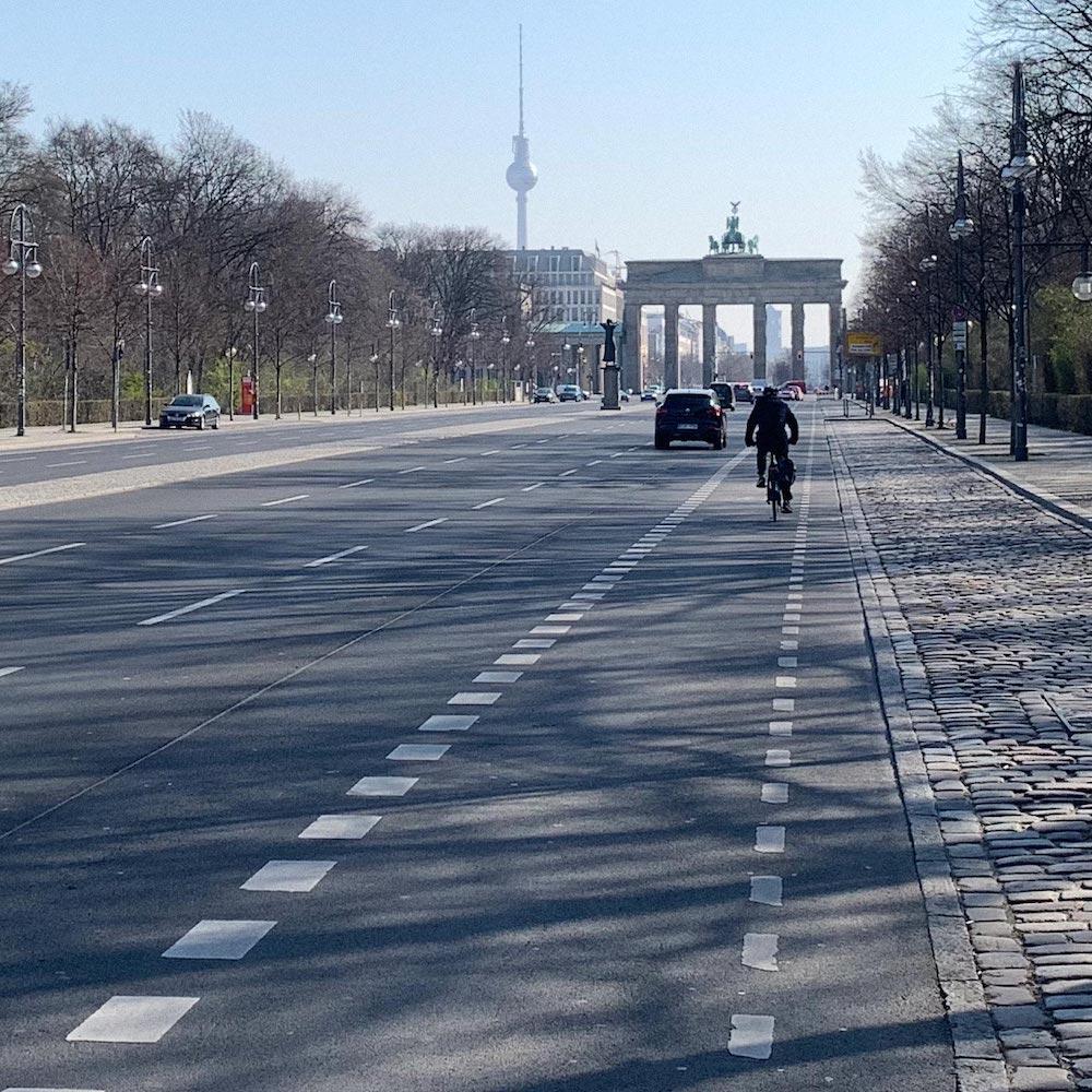 Вид наБранденбургские ворота состороны Тиргартена. Фото: Константин Кропоткин