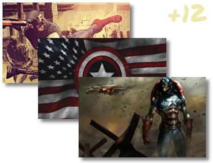 Captain America Comics theme pack