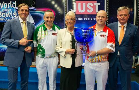 Judy's cream jacket raises £2,500 for the Potters Friends Foundation