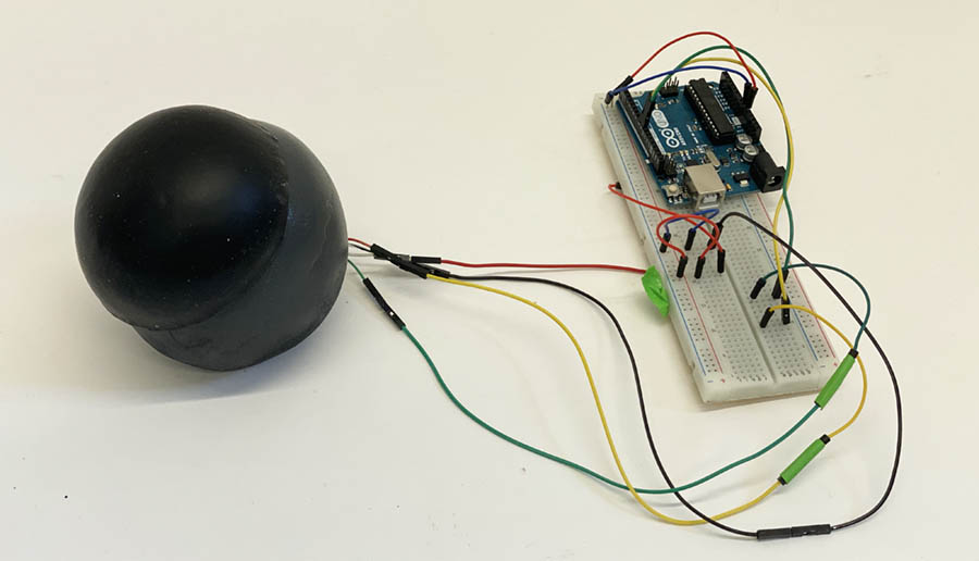 High-fidelity model of Gestura Wave with arduino electronics installed