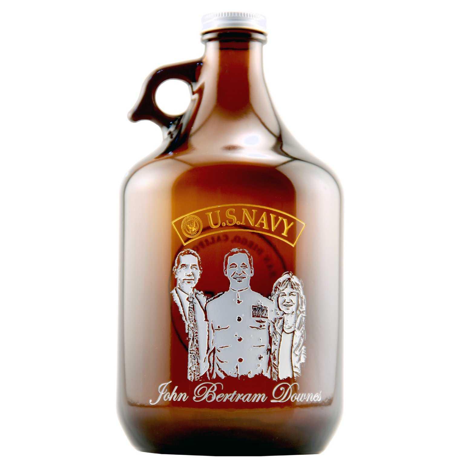 Custom US Navy beer growler