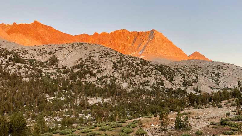 Alpenglow on Mt. Pinchot