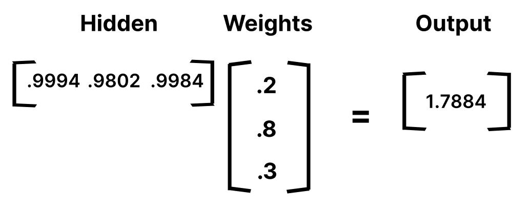Matrix Multiplication output layer
