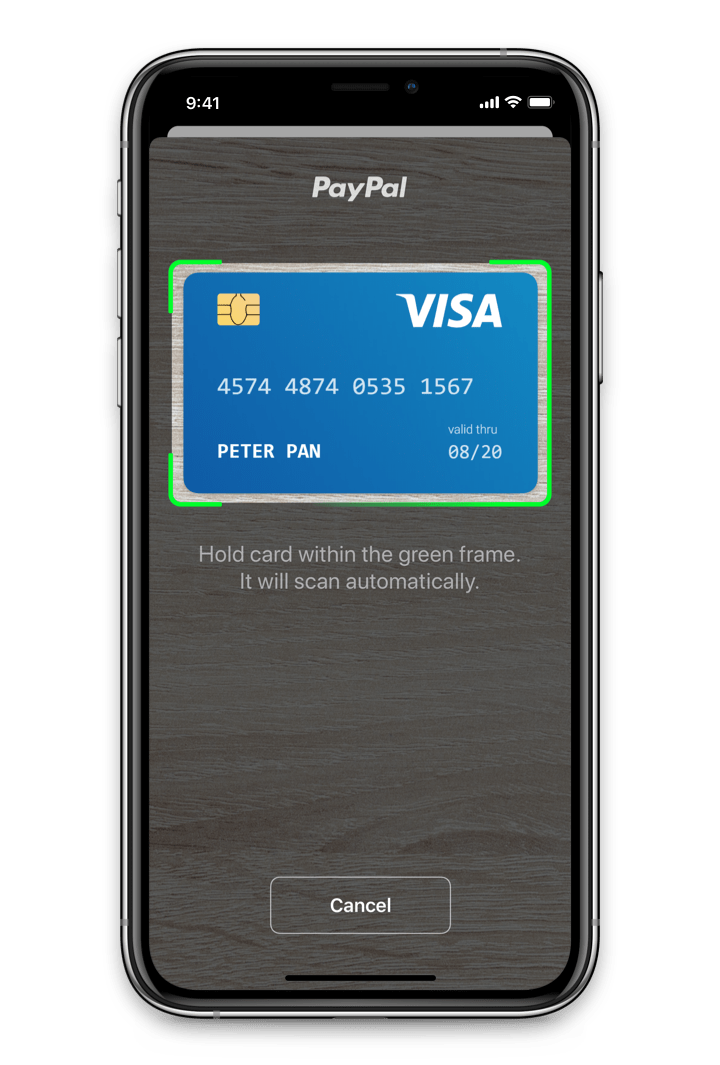 Card.io Support in Drop-In Mobile Payment Interface