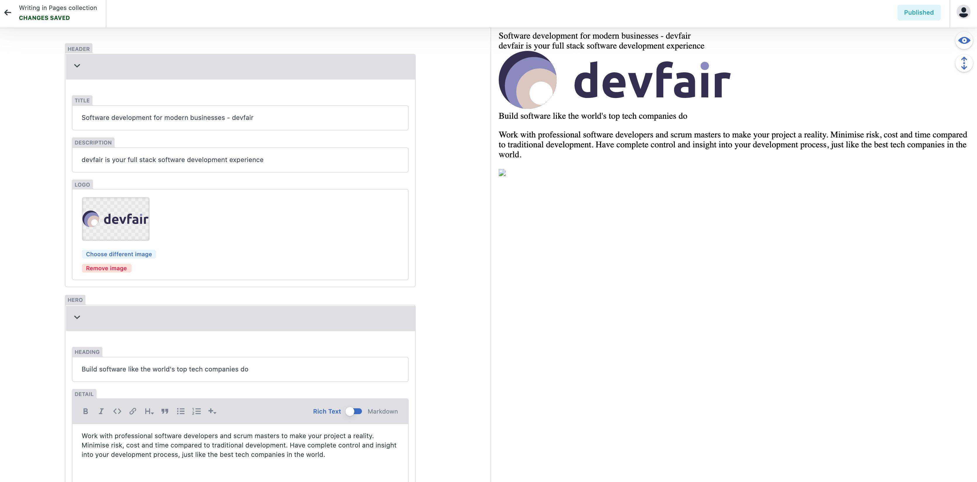 Default Preview