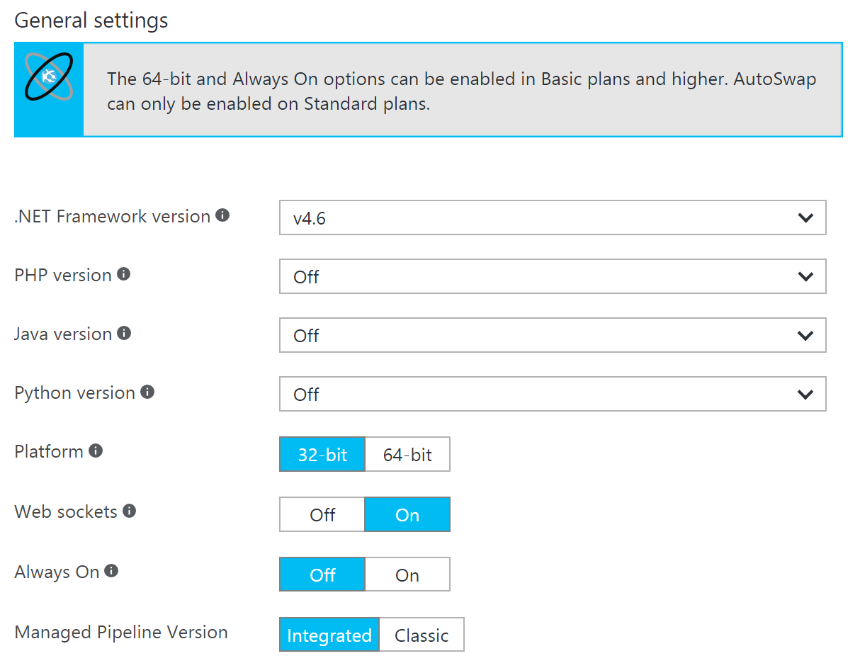 Enable Web Stockets in Azure Web App
