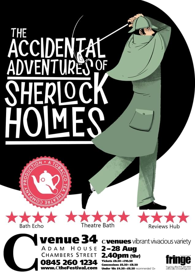 Poster for The Accidental Adventures of Sherlock Holmes, by Christopher Cutting
