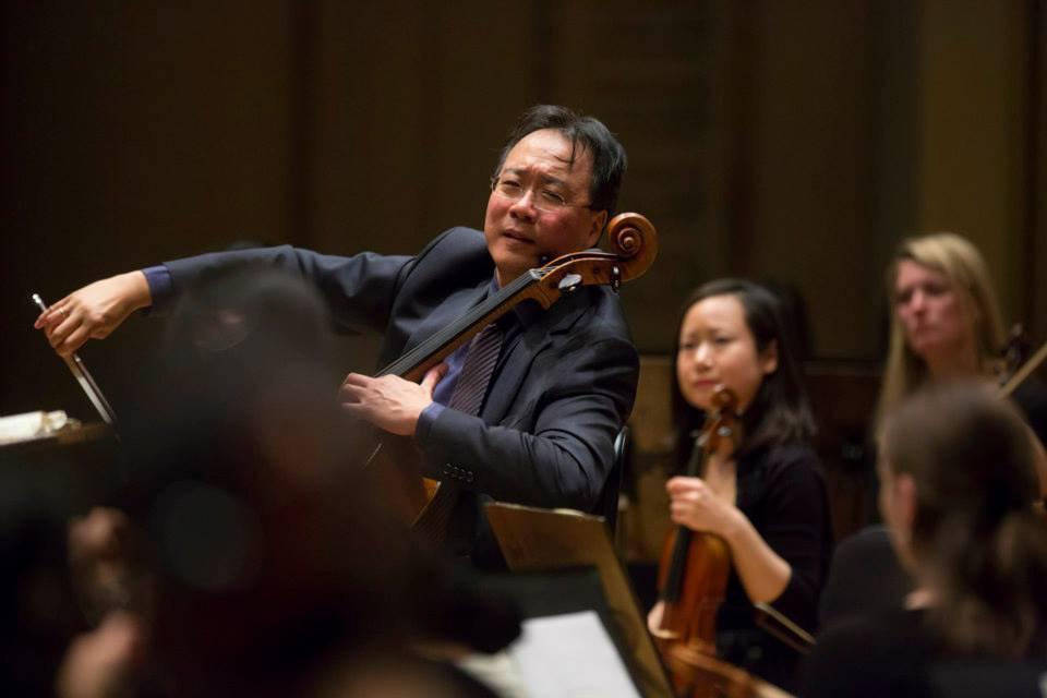 Performing with Yo-Yo Ma