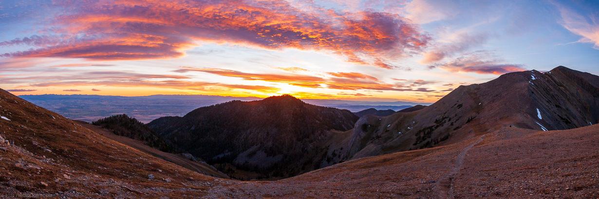Rocky Mountains Sunset Panorama