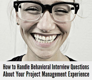 Project manager interview questions image.