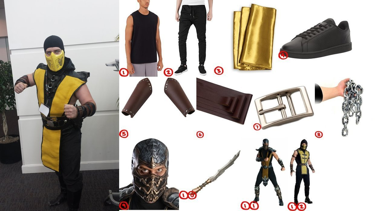 dress like scorpion from mortal kombat costume for cosplay halloween 2018