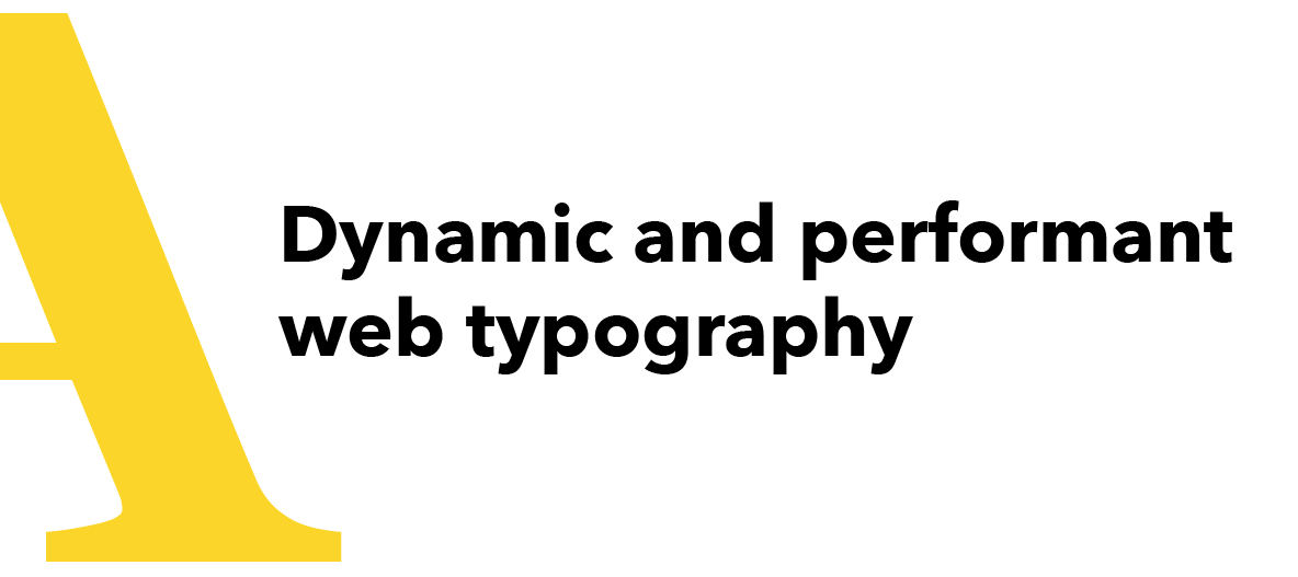 Title slide from typography talk