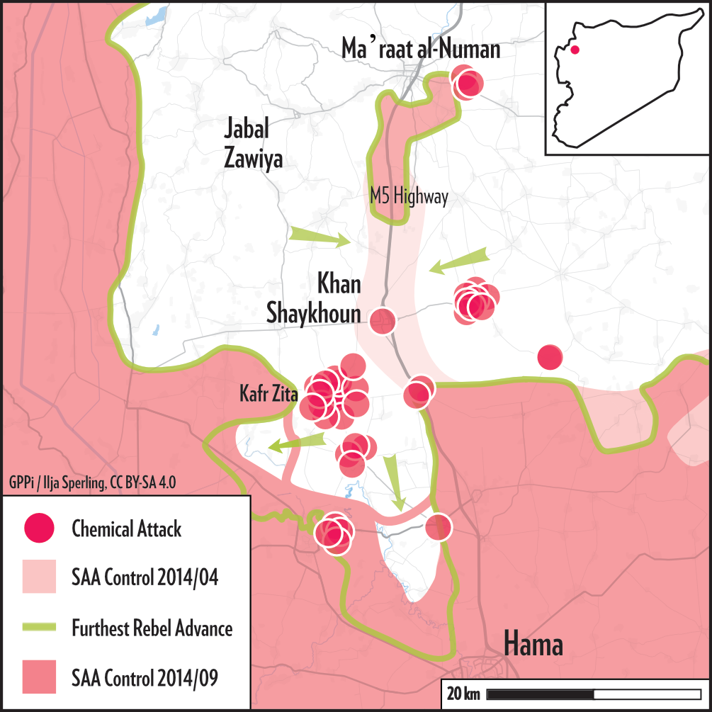Map of Hama 2014 Campaign