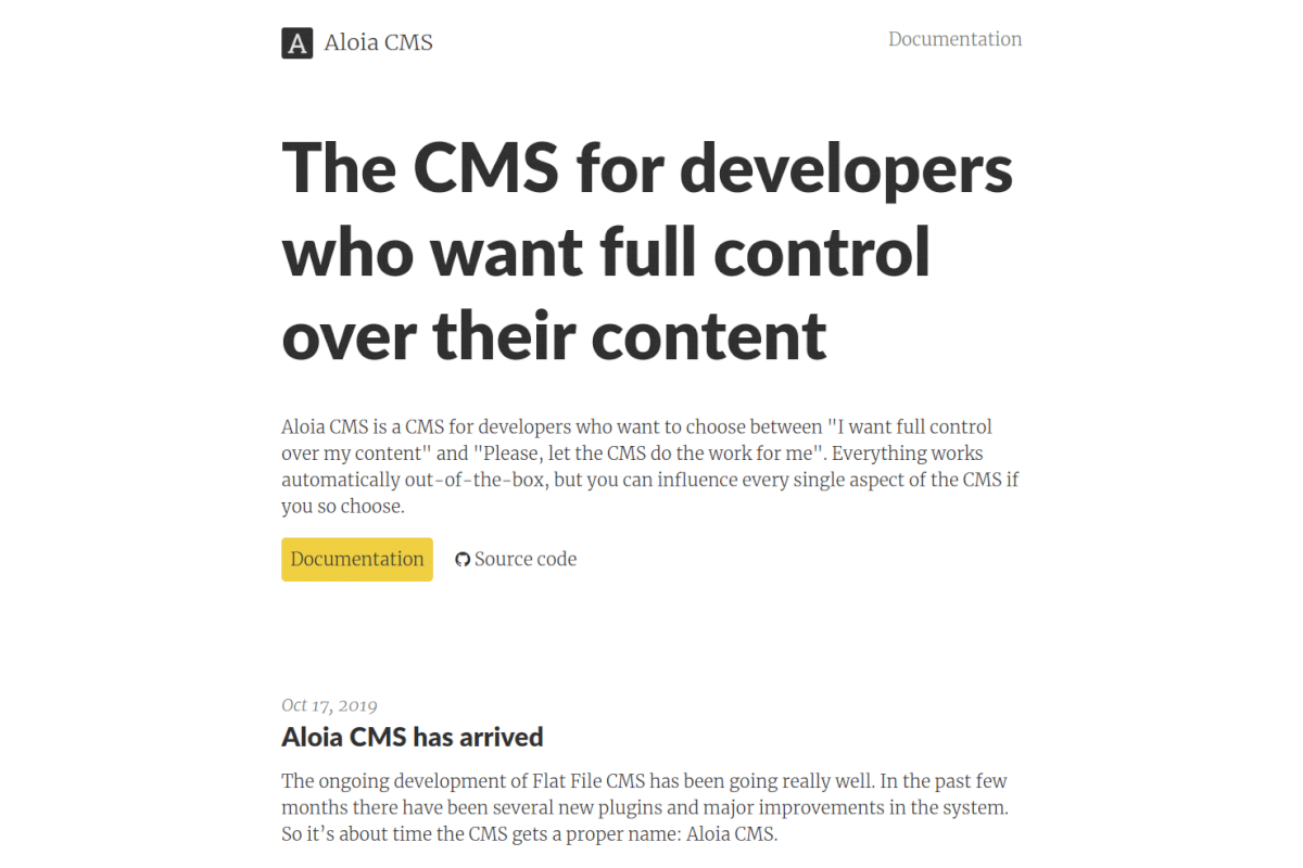 """Aloia cms documentation website"""