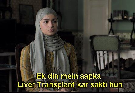 Alia Bhatt in Gully Boy Ek Din Main Aapka Liver Transplant Kar Sakti Hoon