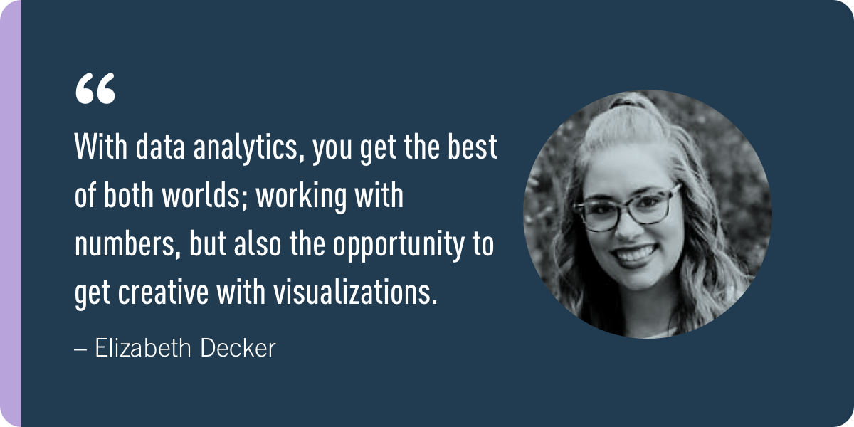 Elizabeth Decker, a CareerFoundry student who changed her career from barista to data analyst