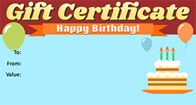 Gift Certificate Template Birthday 03