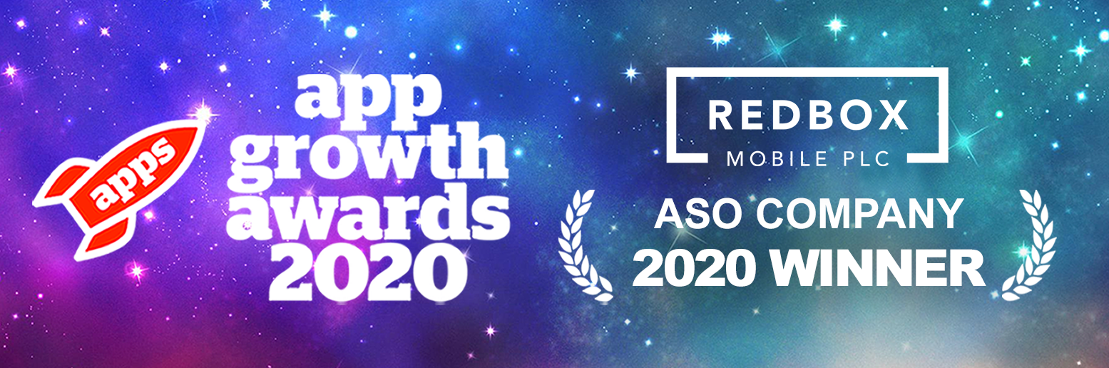 Winners of ASO Company of the year 2020: Redbox Mobile