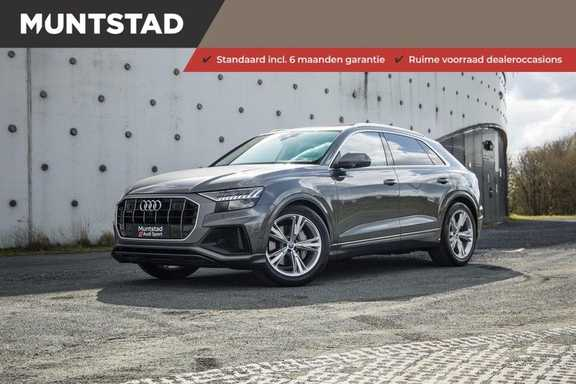 Audi Q8 55 TFSI quattro 340PK | Pano.dak | S-Line | 360 Camera | Adapt.cruise | Head-Up | B&O Advanced Sound | Massage/ventilatie/verwarmde Stoelen | Matrix LED | Full option |