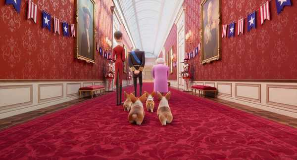 Cena da animação Corgi: Top Dog (The Queen's Corgi)