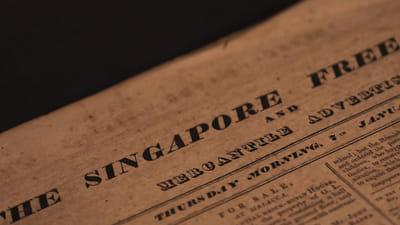 A newspaper masthead titled The Singapore Free Press.