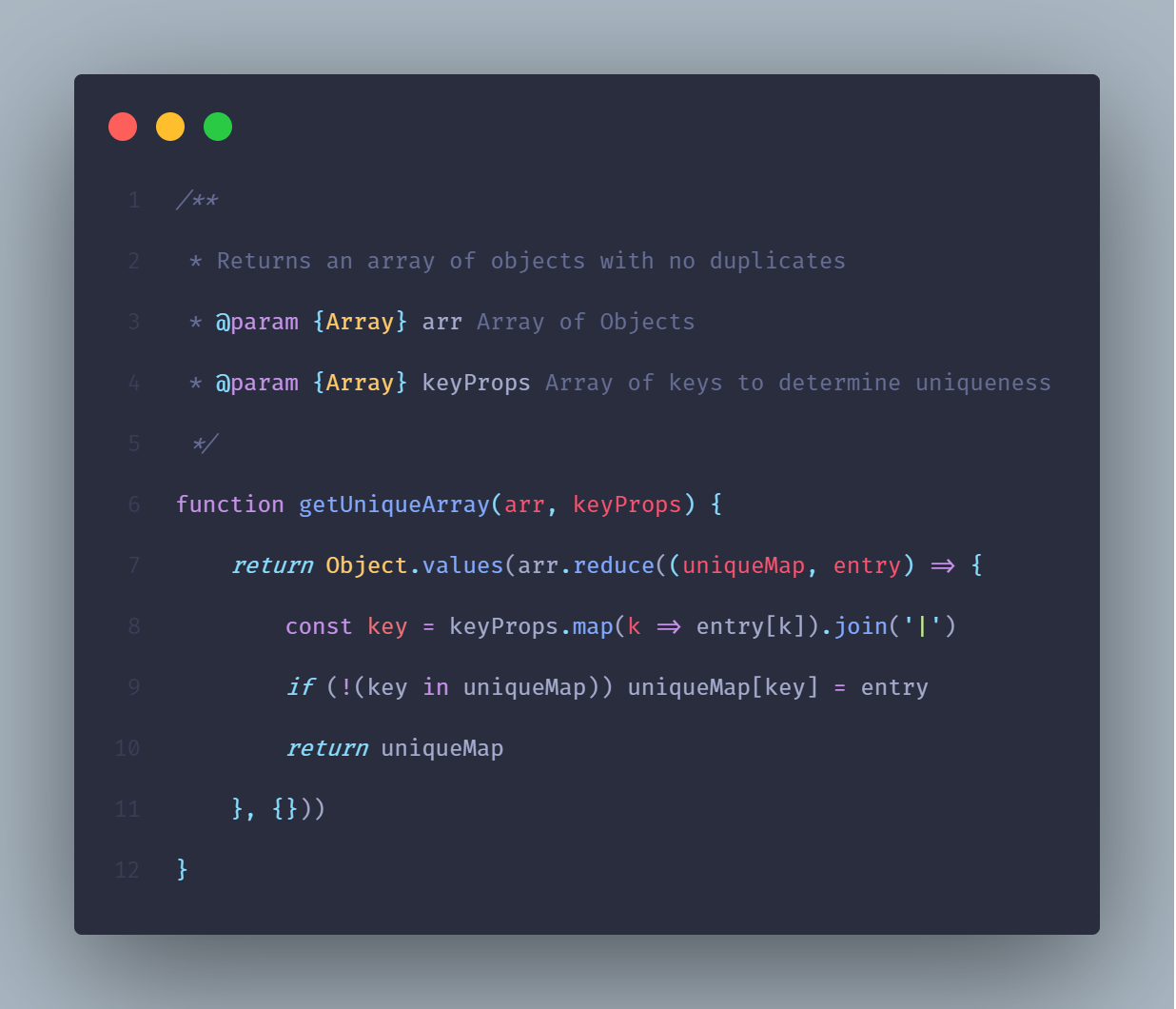 How to remove duplicate objects from a JavaScript array